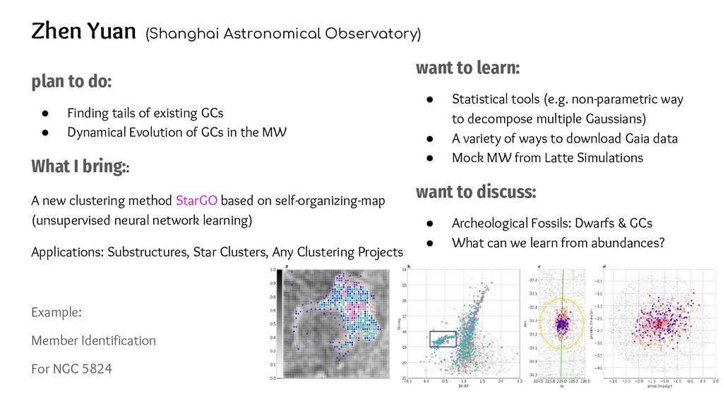 Zhen Yuan (Shanghai Astronomical Observatory) p...