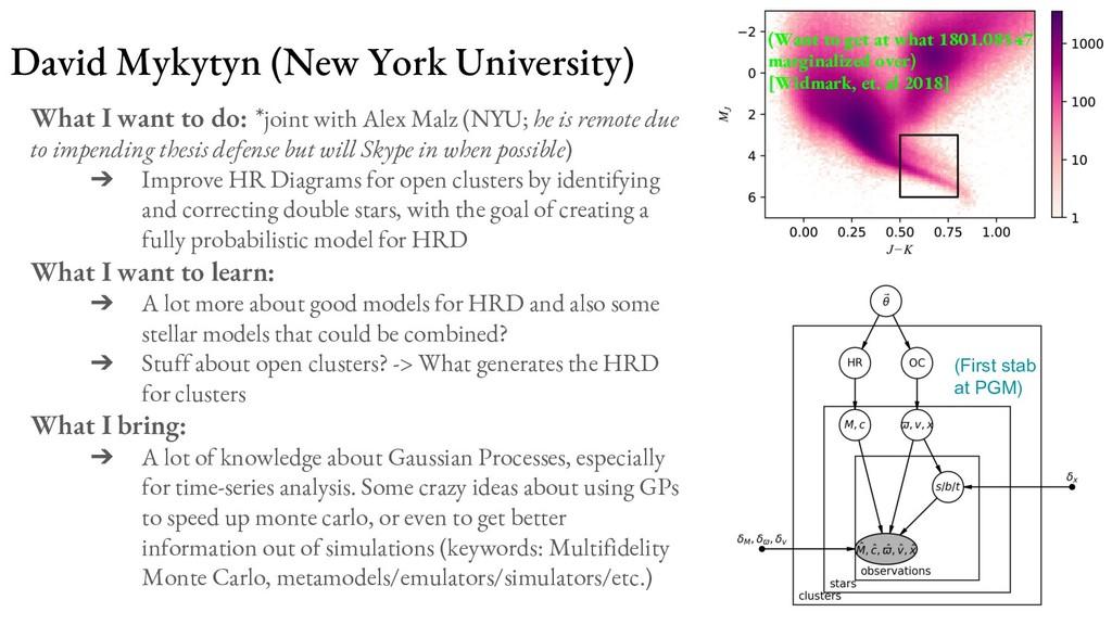 David Mykytyn (New York University) What I want...