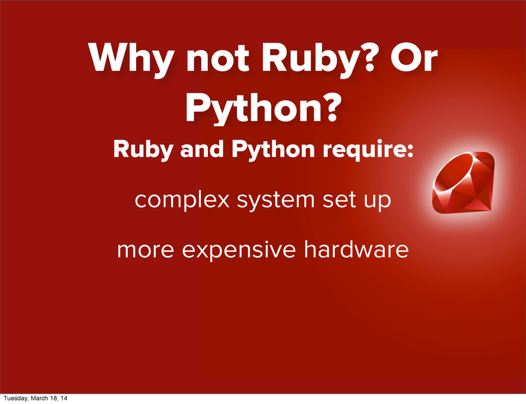 Ruby and Python require: complex system set up ...
