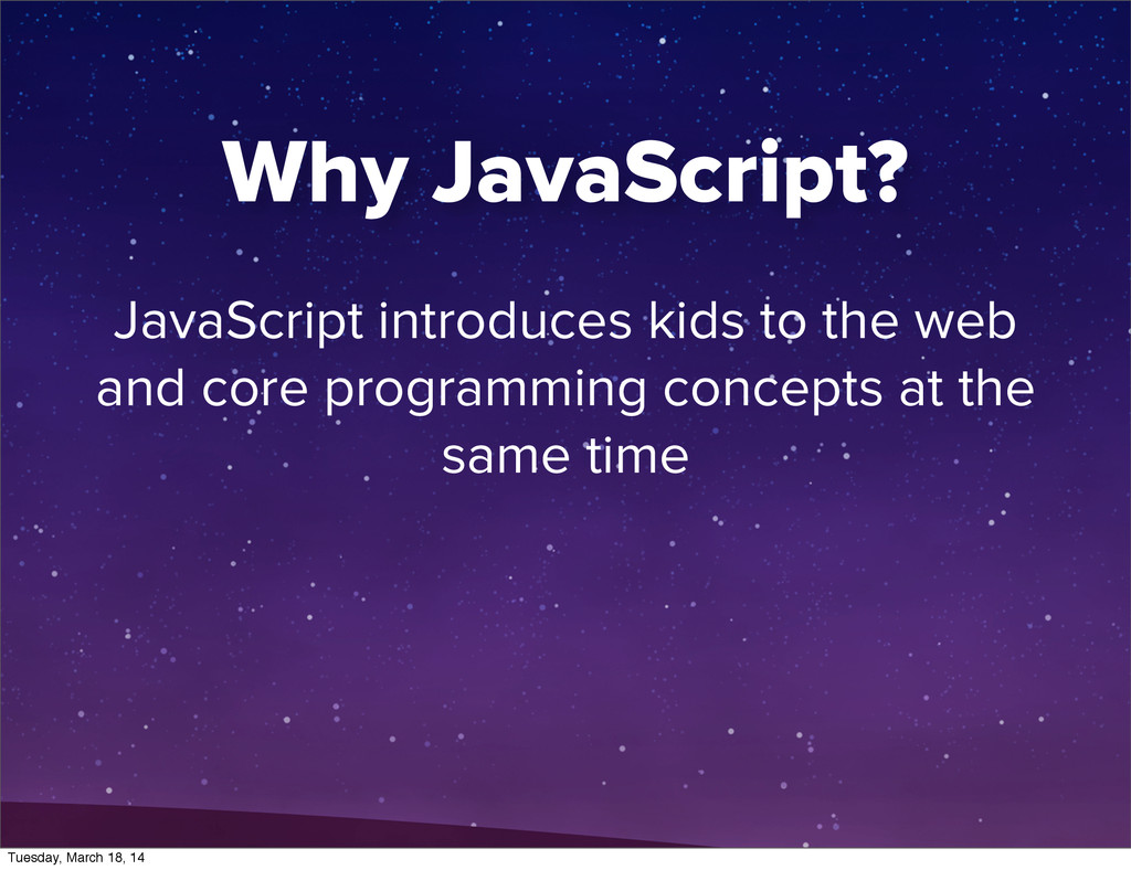 JavaScript introduces kids to the web and core ...
