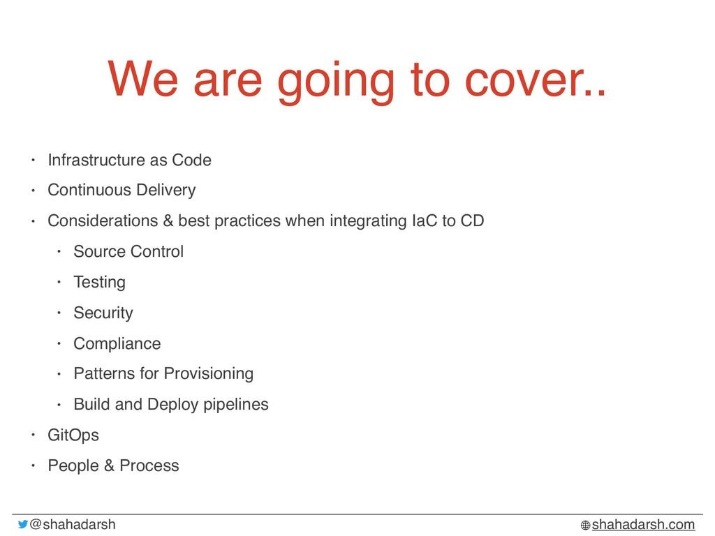 @shahadarsh shahadarsh.com We are going to cove...