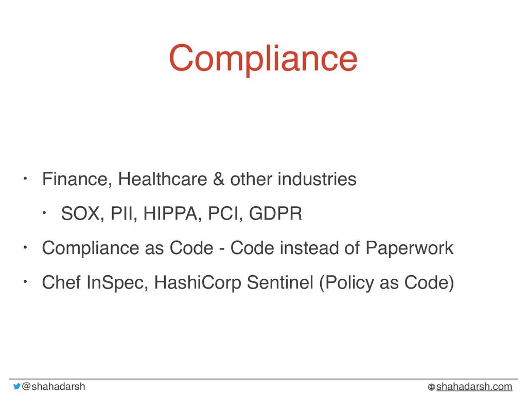 @shahadarsh shahadarsh.com Compliance • Finance...