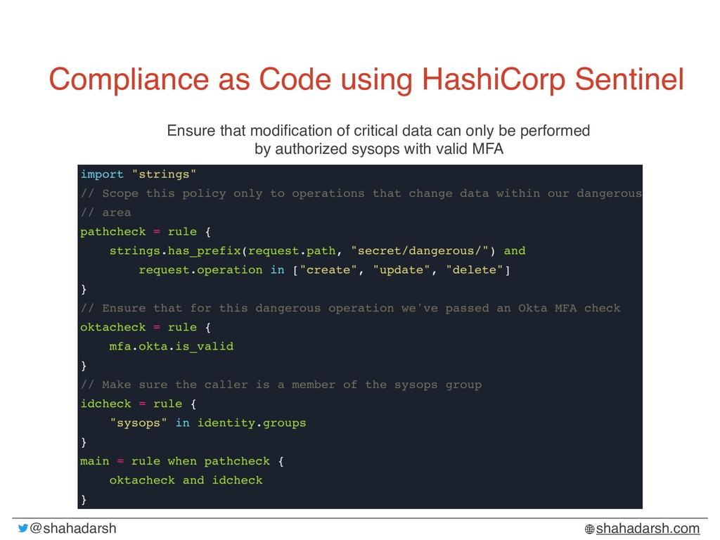 @shahadarsh shahadarsh.com Compliance as Code u...
