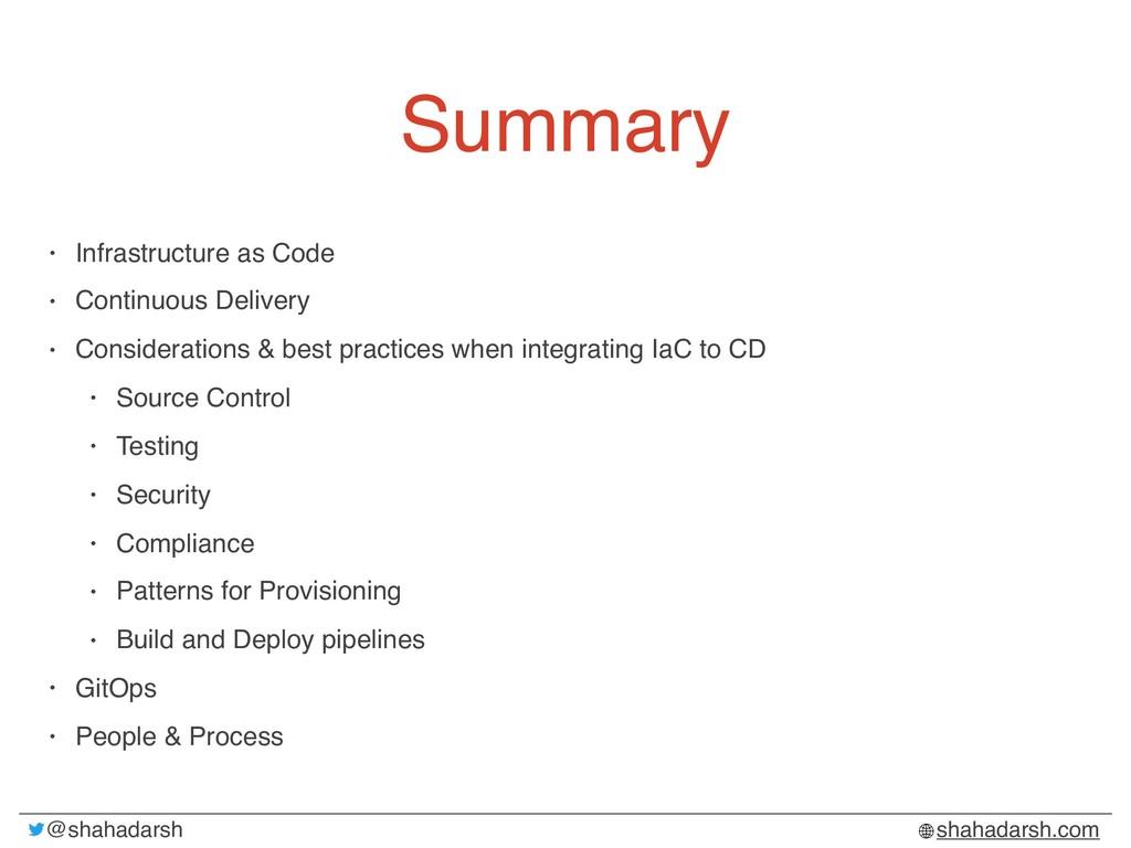 @shahadarsh shahadarsh.com Summary • Infrastruc...