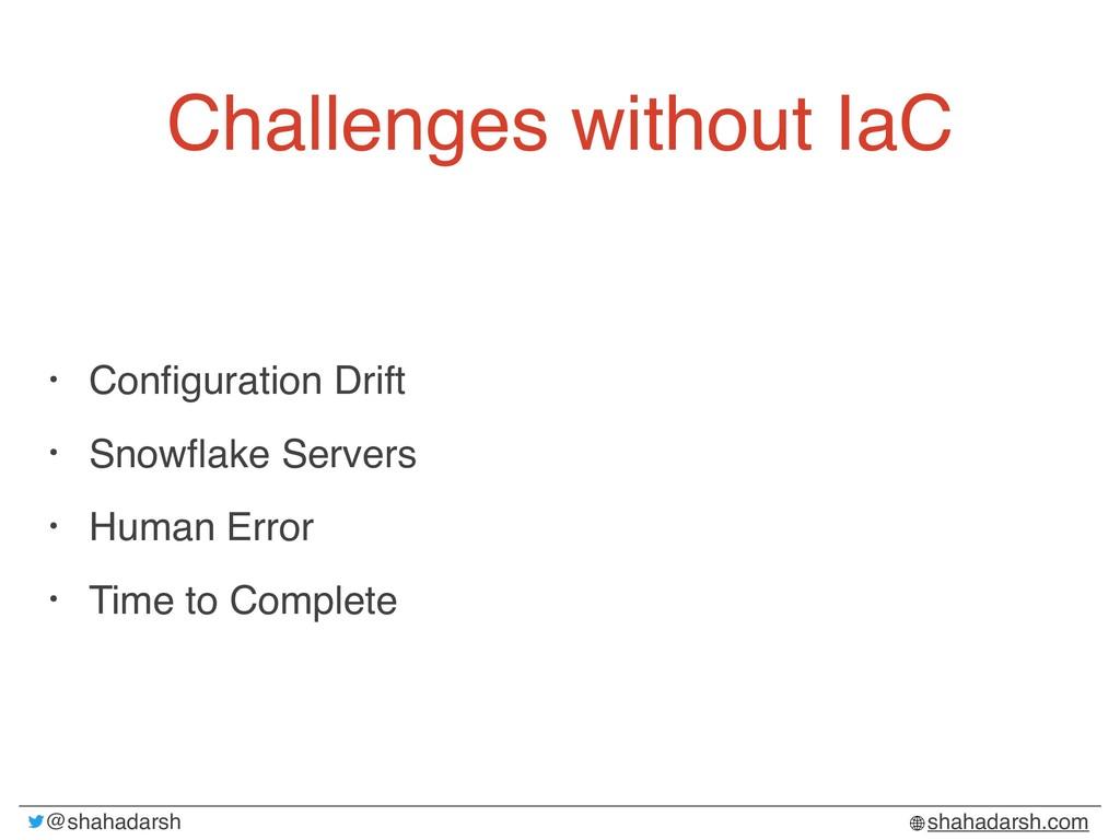 @shahadarsh shahadarsh.com Challenges without I...