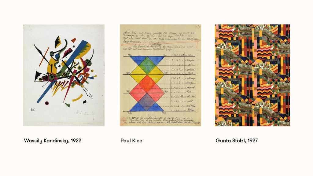 Gunta Stölzl, 1927 Paul Klee Wassily Kandinsky,...