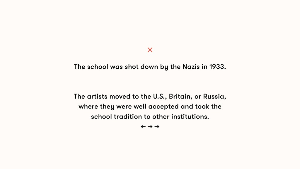 The school was shot down by the Nazis in 1933. ...