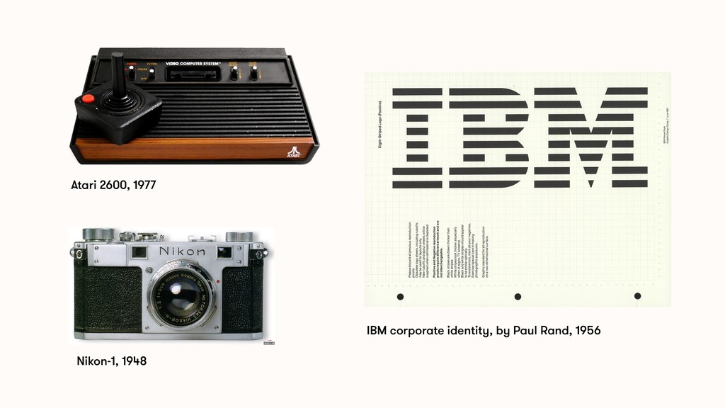 Nikon-1, 1948 IBM corporate identity, by Paul R...
