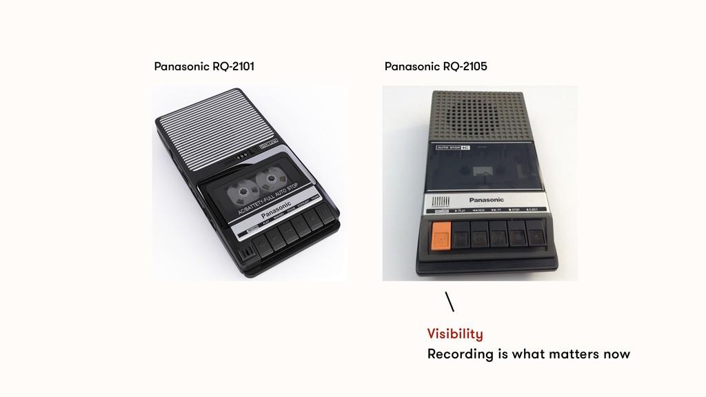 Panasonic RQ-2101 Panasonic RQ-2105 Visibility ...