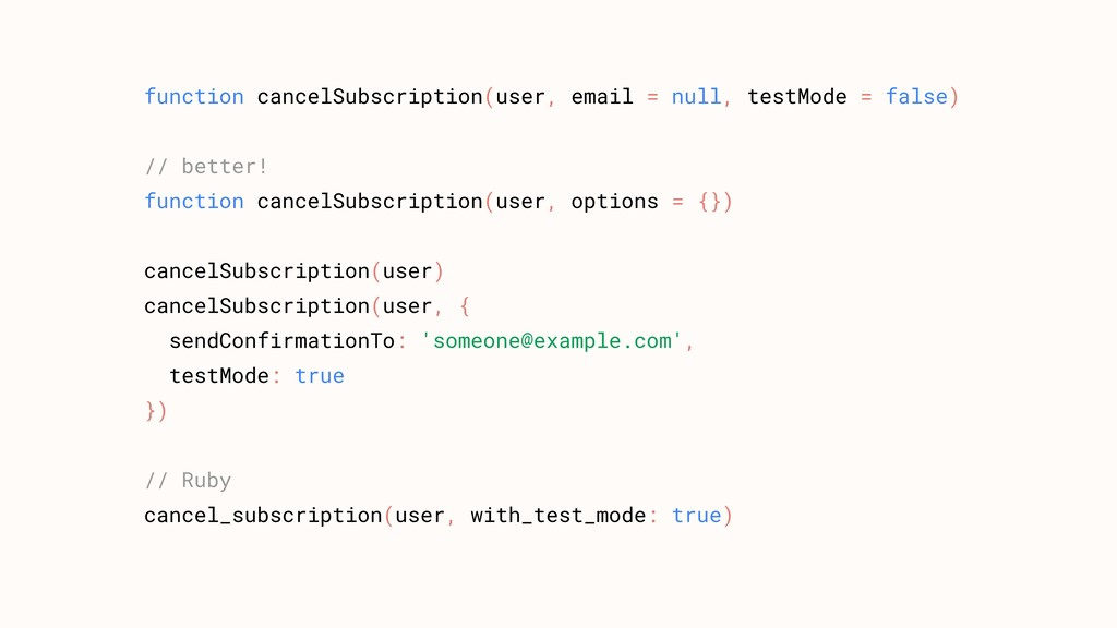 function cancelSubscription(user, email = null,...