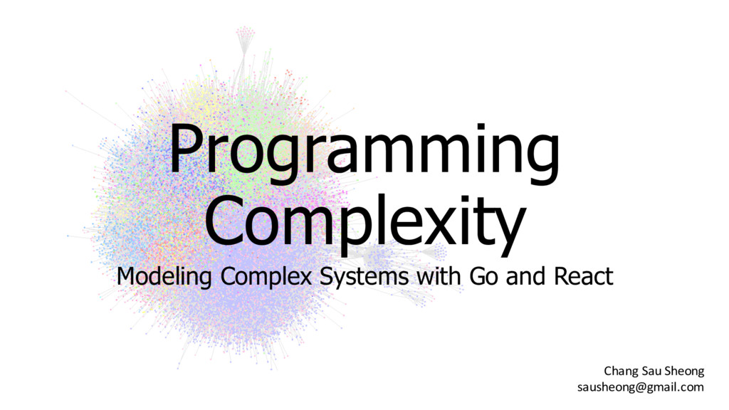 Programming  Complexity Modeling Complex Sys...