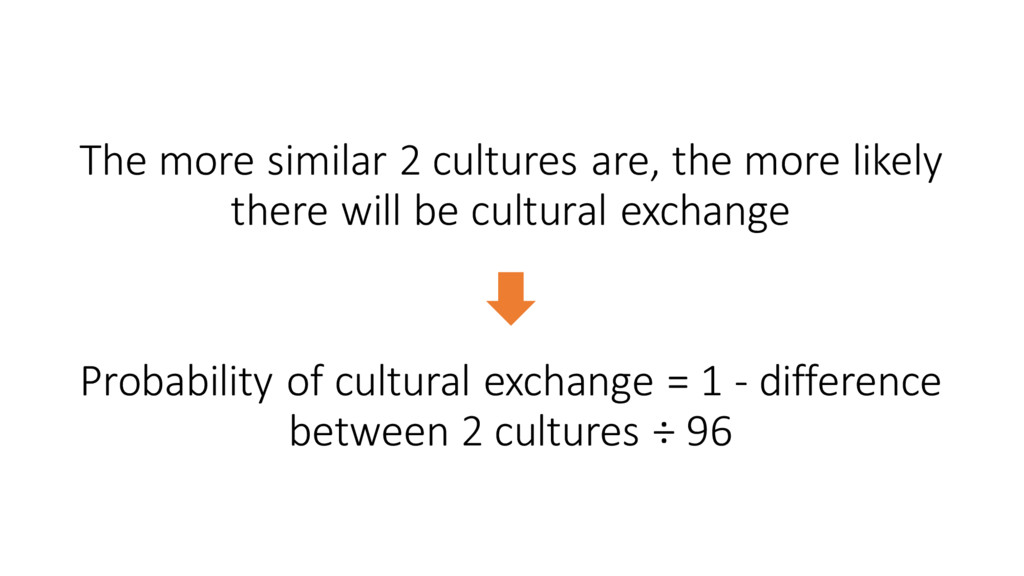 The more similar 2 cultures are,...