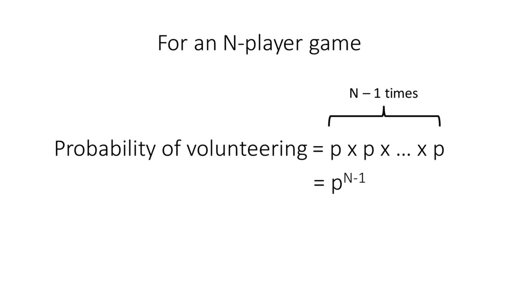 For an N-‐player game Probability ...