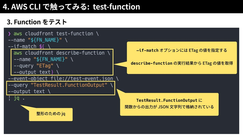4. AWS CLI : test-function 3. Function —if-matc...
