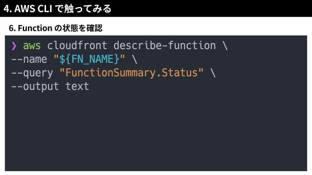 4. AWS CLI 6. Function