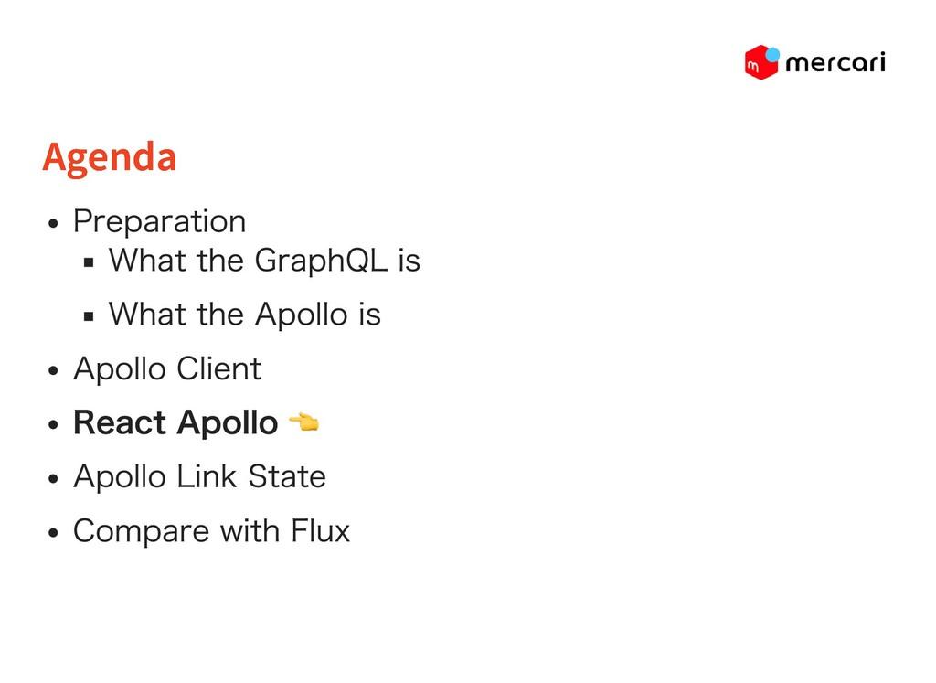 Agenda Agenda Preparation What the GraphQL is W...