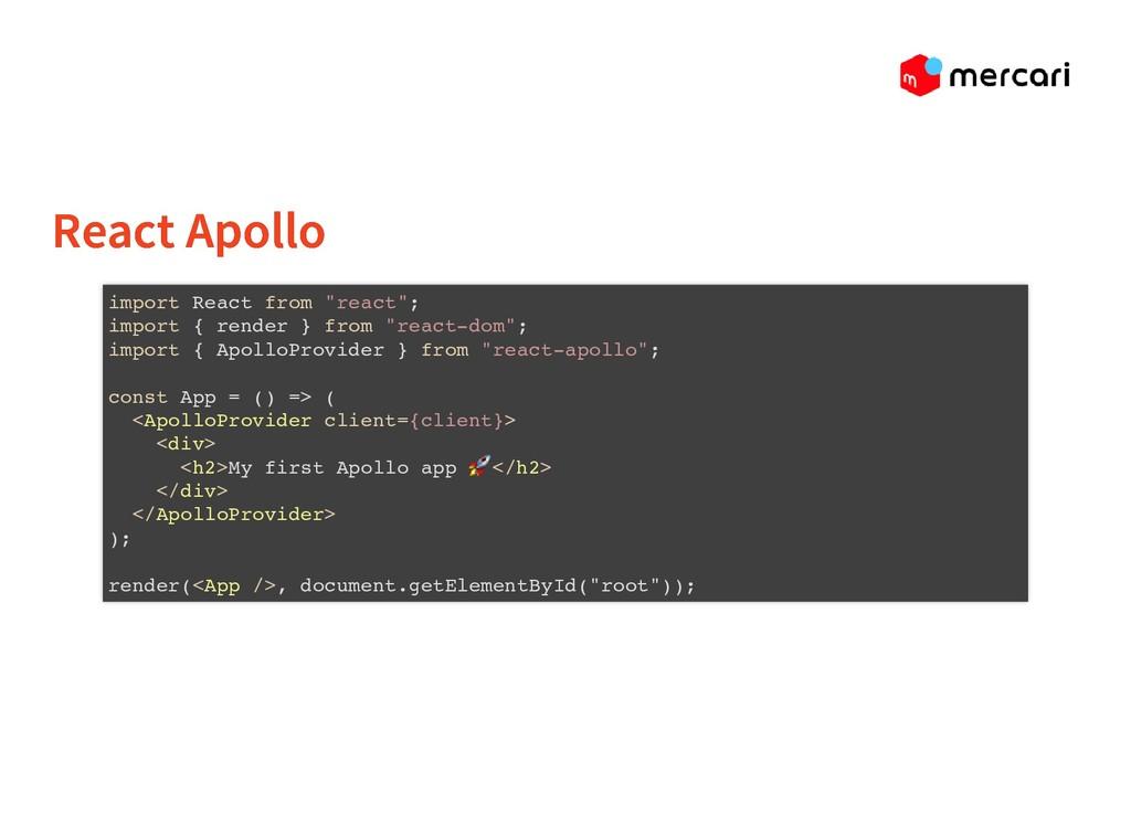 """React Apollo React Apollo import React from """"re..."""