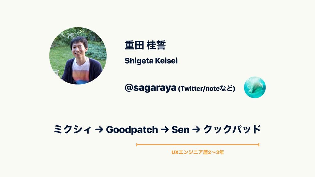 ॏా ܡ Shigeta Keisei ϛΫγΟ → Goodpatch → Sen → Ϋ...