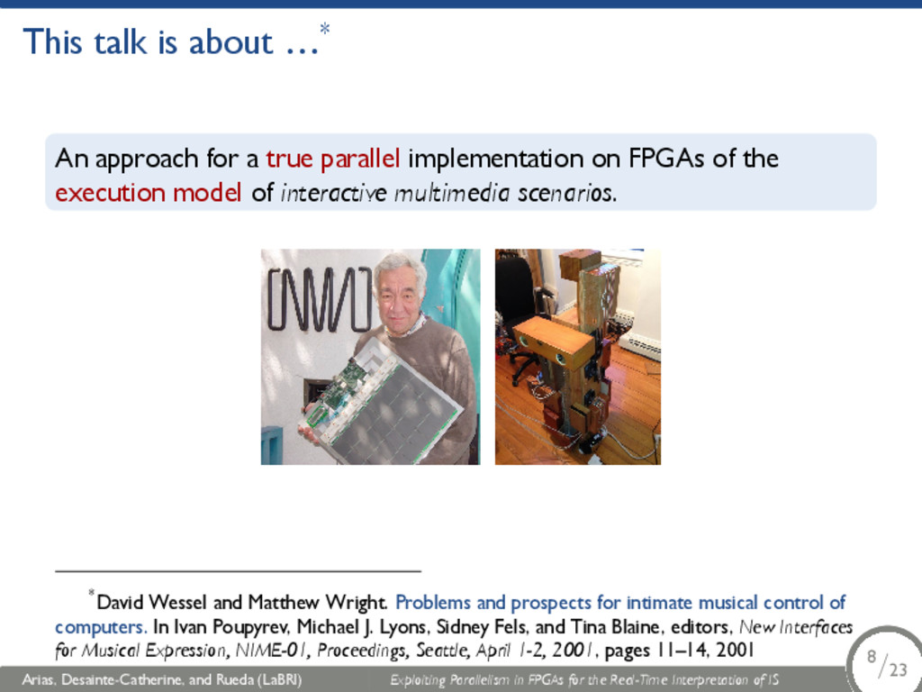 This talk is about …* An approach for a true pa...
