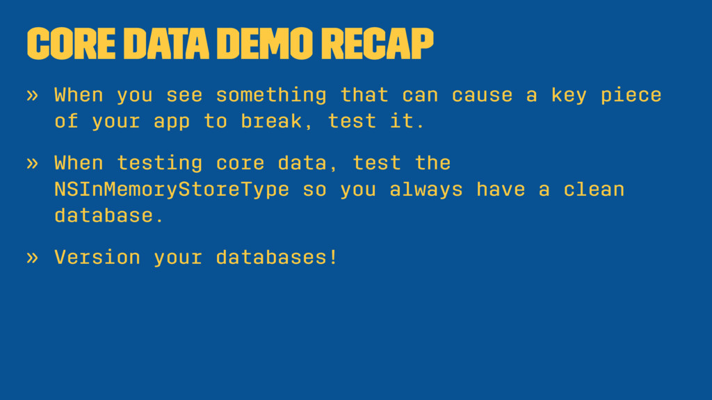 Core Data Demo Recap » When you see something t...
