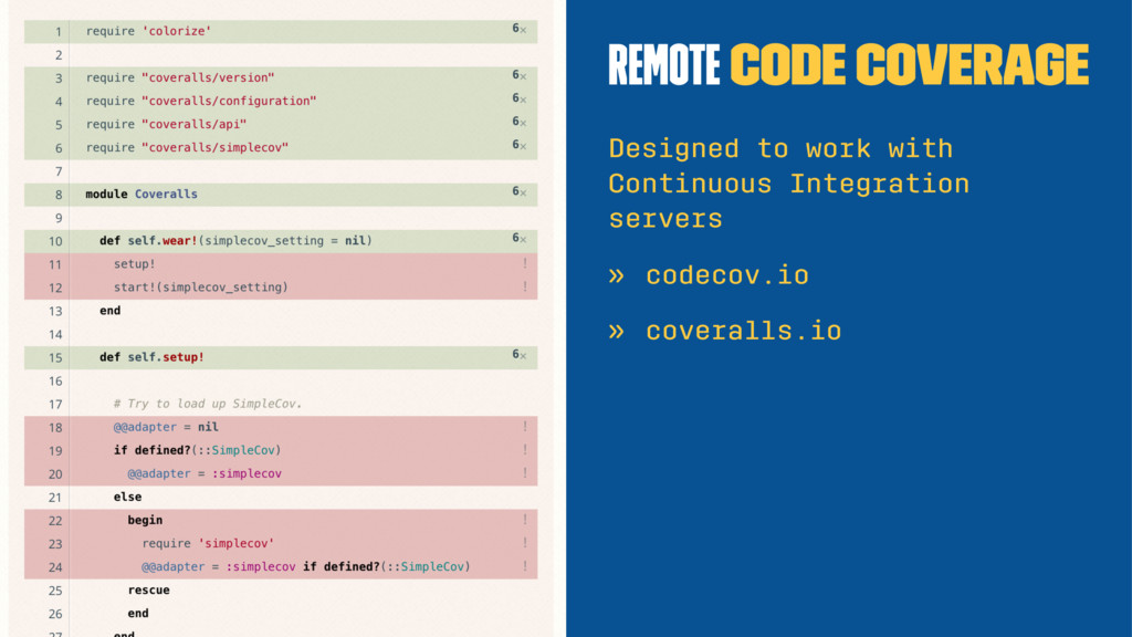 Remote code coverage Designed to work with Cont...
