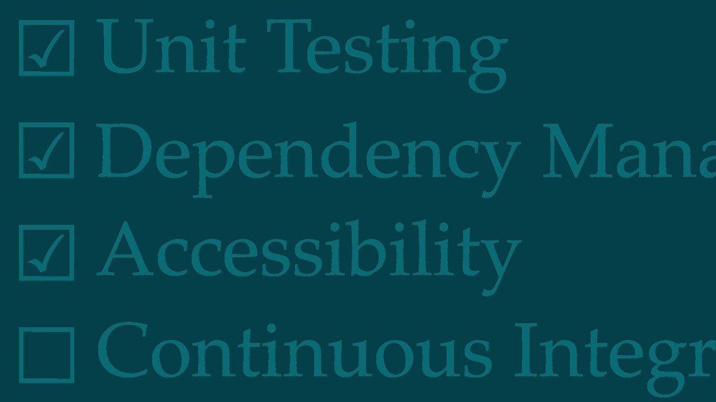 Dependency Mana Unit Testing ☑︎ ☑︎ ☑︎ ☐ Accessi...