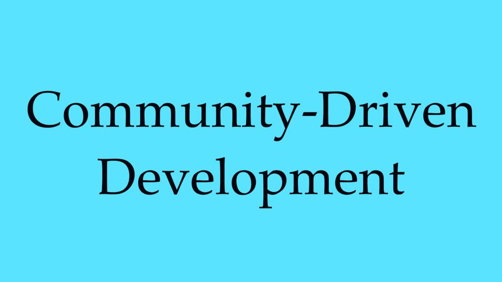Community-Driven Development