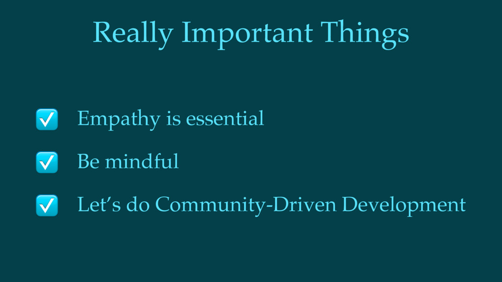 Really Important Things Empathy is essential Be...