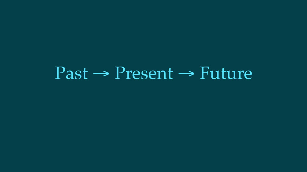 Past → Present → Future