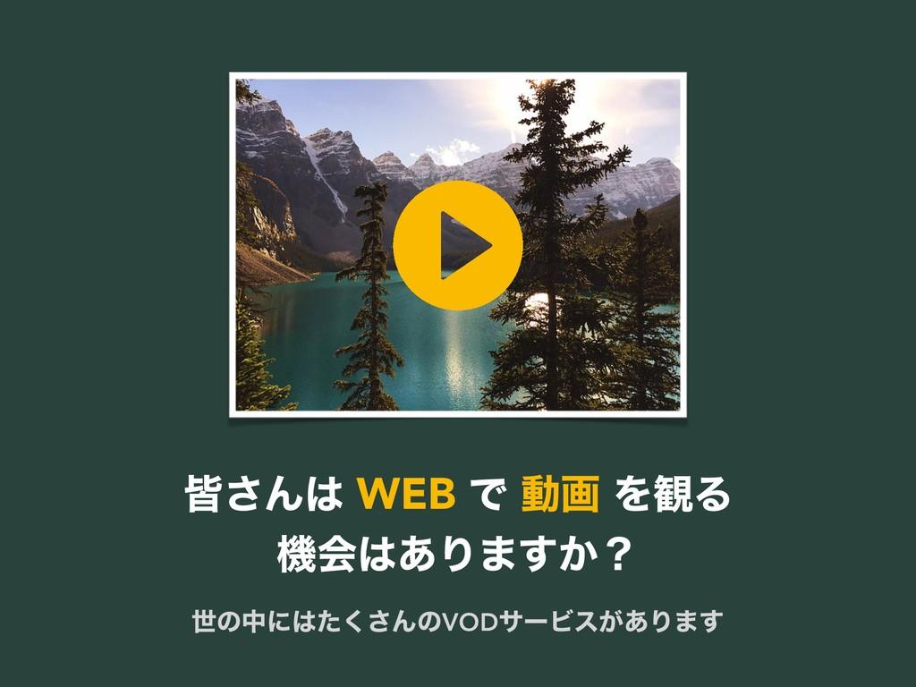 օ͞Μ WEB Ͱ ಈը Λ؍Δ ػձ͋Γ·͔͢ʁ ੈͷதʹͨ͘͞ΜͷVODαʔϏε͕͋...
