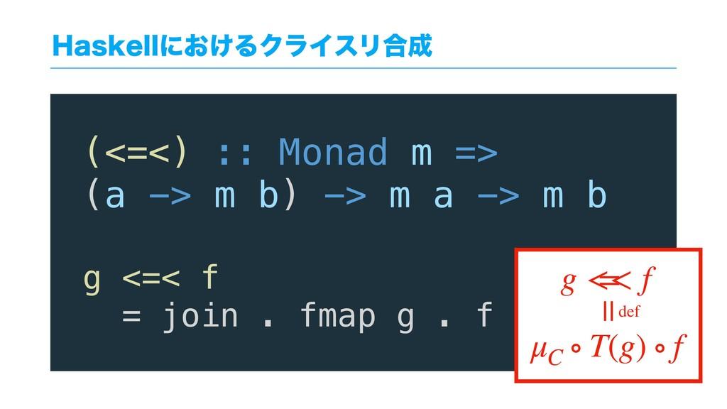 )BTLFMMʹ͓͚ΔΫϥΠεϦ߹ (<=<) :: Monad m => (a -> m ...