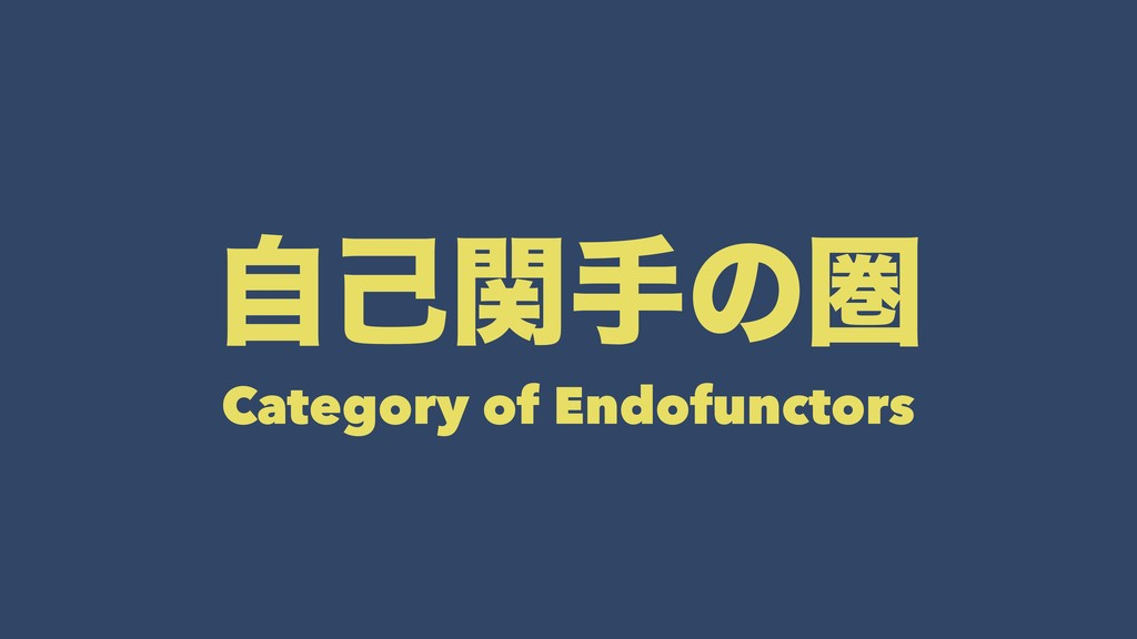 ࣗݾؔखͷݍ Category of Endofunctors