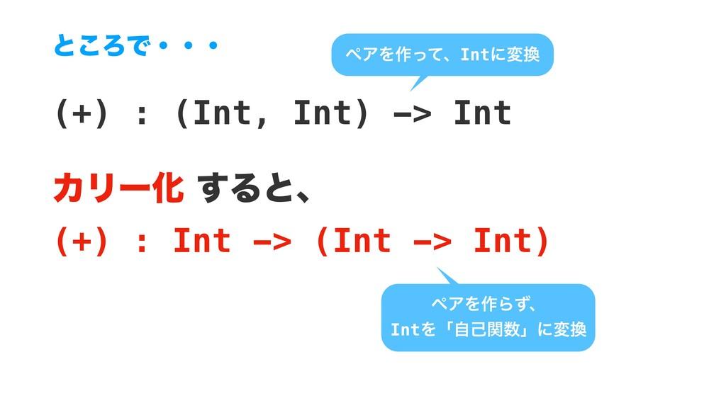 (+) : (Int, Int) -> Int ΧϦʔԽ͢Δͱɺ (+) : Int ->...