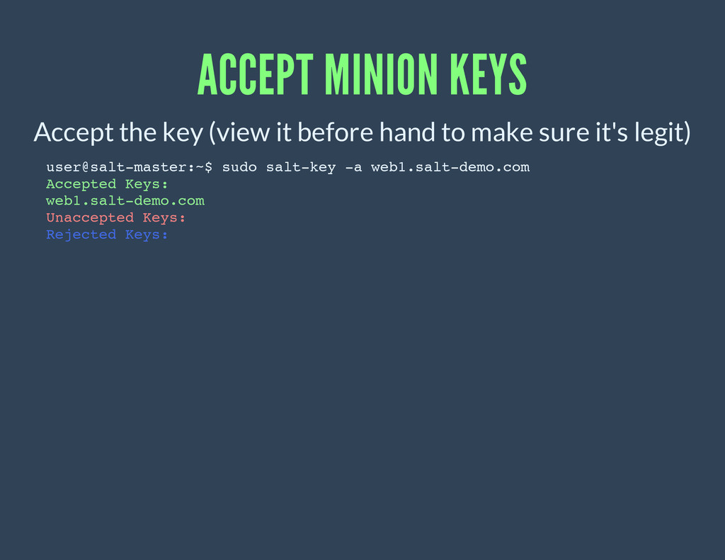 ACCEPT MINION KEYS Accept the key (view it befo...