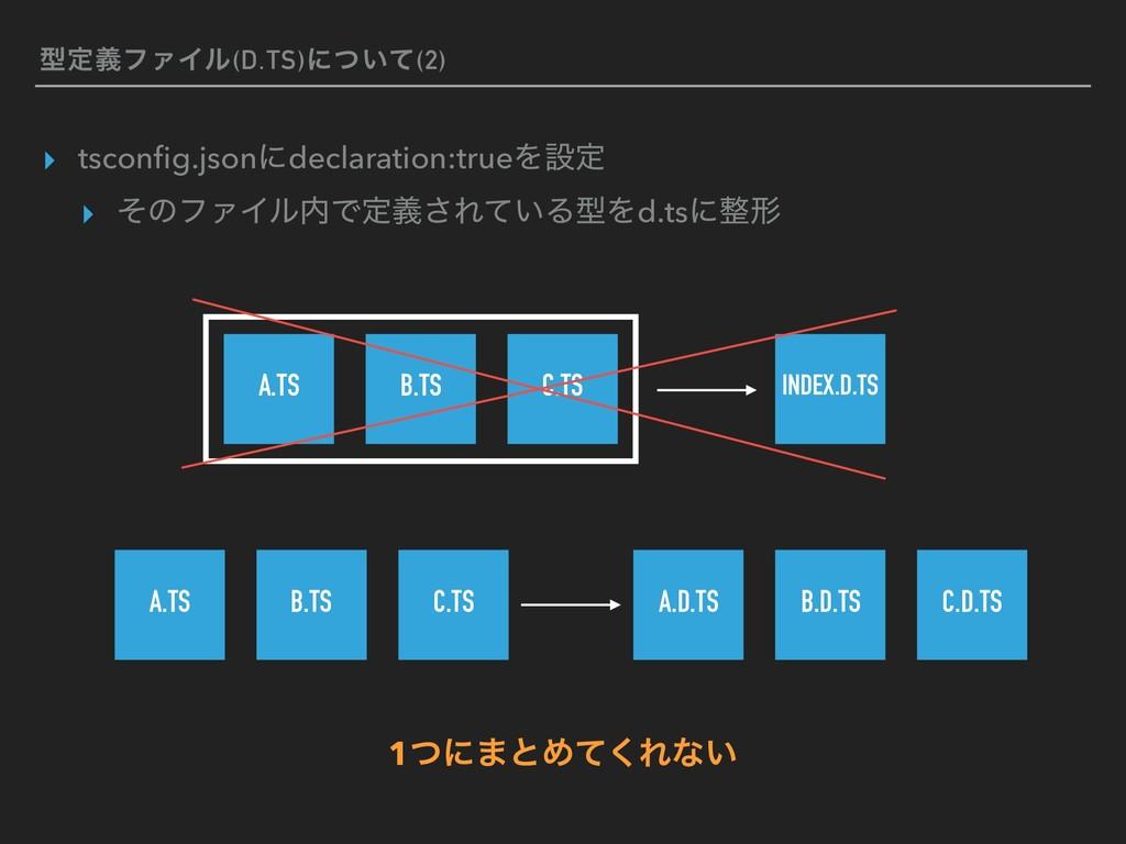 ܕఆٛϑΝΠϧ(D.TS)ʹ͍ͭͯ(2) ▸ tsconfig.jsonʹdeclaration...