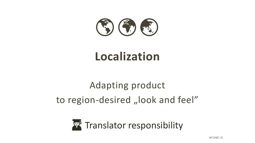 Localization Adapting product to region-desired...