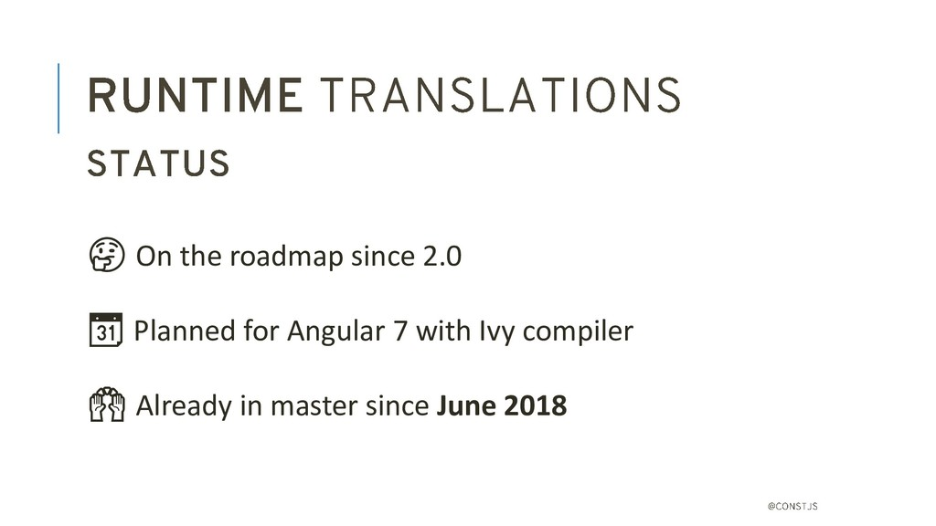 On the roadmap since 2.0  Planned for Angular ...