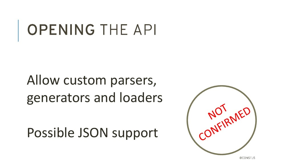 Allow custom parsers, generators and loaders Po...