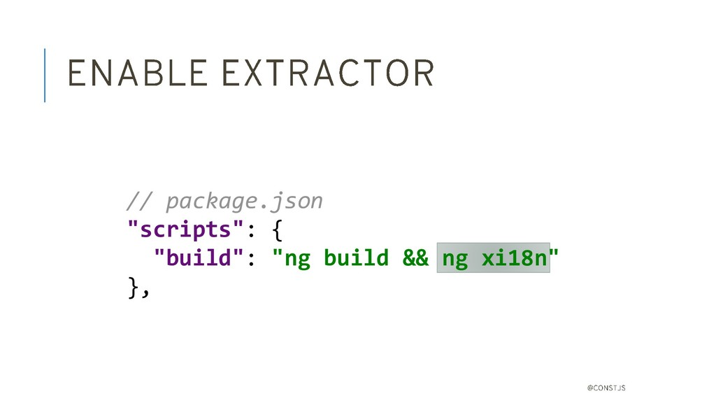 "// package.json ""scripts"": { ""build"": ""ng build..."