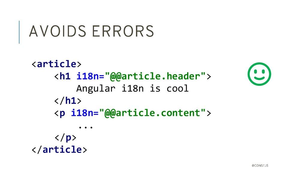 <div> <div> Angular i18n is cool </div> </div> ...