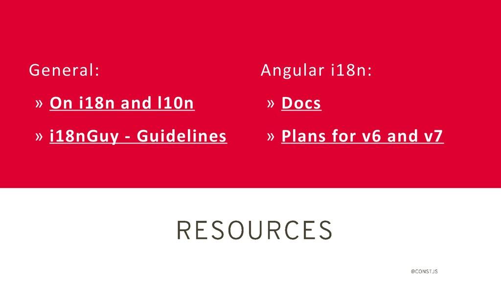 Angular i18n: » Docs » Plans for v6 and v7 Gene...
