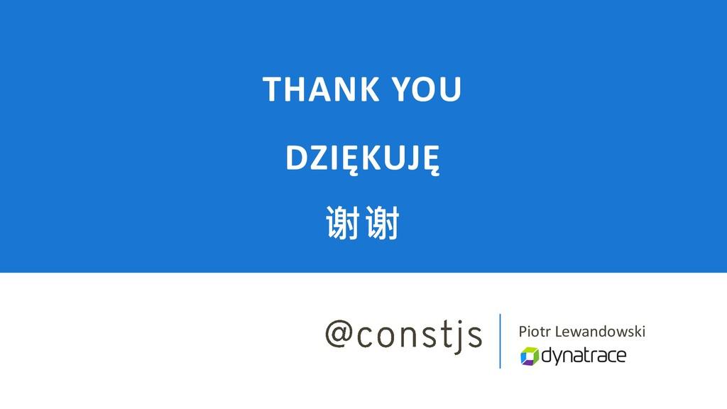 Piotr Lewandowski THANK YOU DZIĘKUJĘ 谢谢