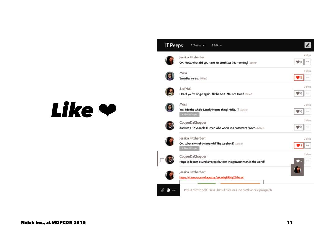 Like ❤ Nulab Inc., at MOPCON 2015 11