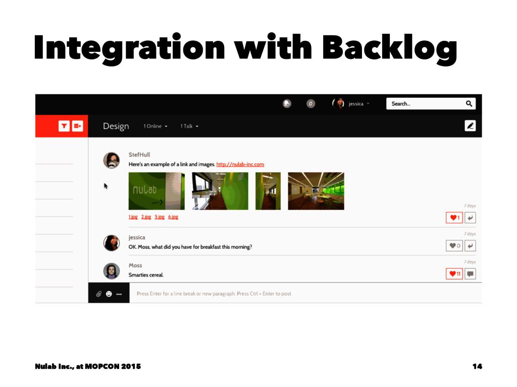 Integration with Backlog Nulab Inc., at MOPCON ...