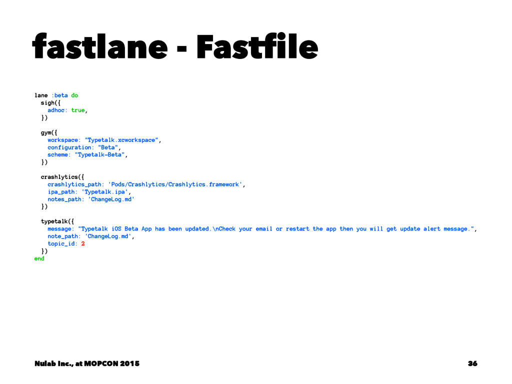 fastlane - Fastfile lane :beta do sigh({ adhoc:...