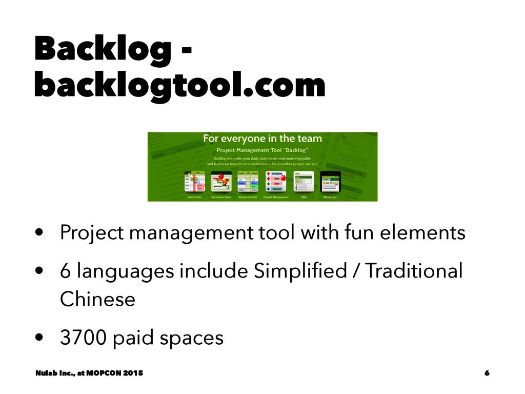 Backlog - backlogtool.com • Project management ...