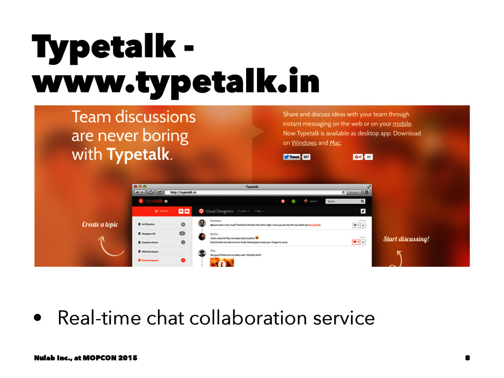 Typetalk - www.typetalk.in • Real-time chat col...