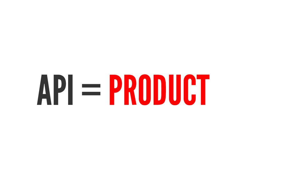 API = PRODUCT