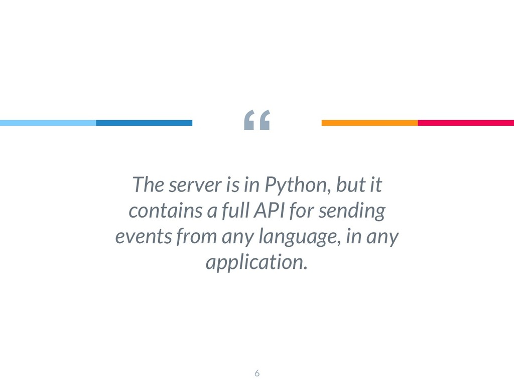 """"""" The server is in Python, but it contains a fu..."""