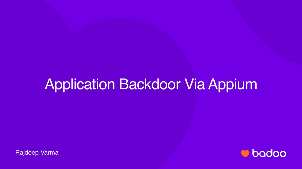 Rajdeep Varma Application Backdoor Via Appium